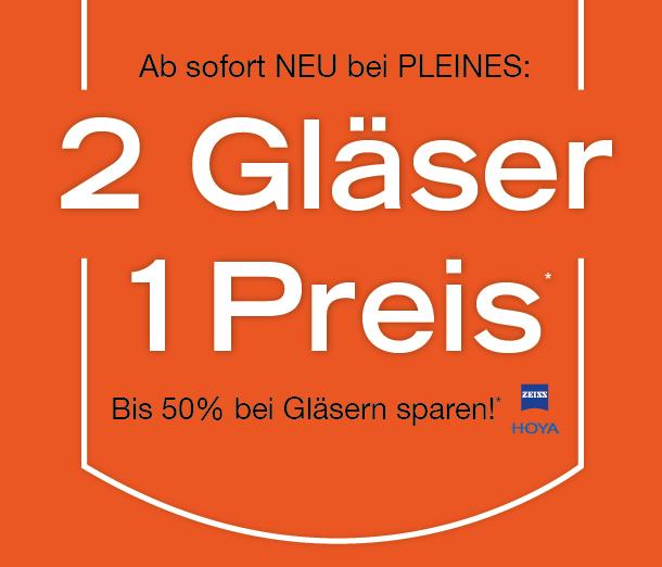 2 Gläser 1 Preis*
